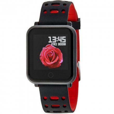 Czarno-czerwony Smartwatch Marea B57002/1