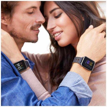 Czarny Smartwatch z bransoletką Marea B57002/5