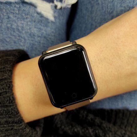 Różowozłoty Smartwatch z bransoletką Marea B57002/6