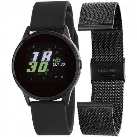 Czarny Smartwatch Marea B58001/1 z dodatkowym paskiem
