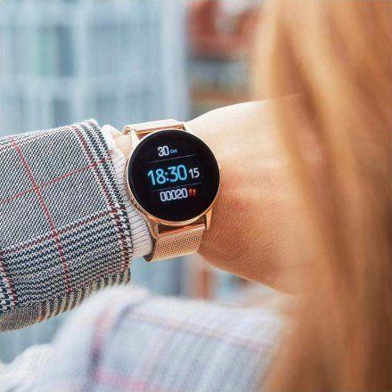 Różowy Smartwatch Marea B58001/4 z dodatkowym paskiem