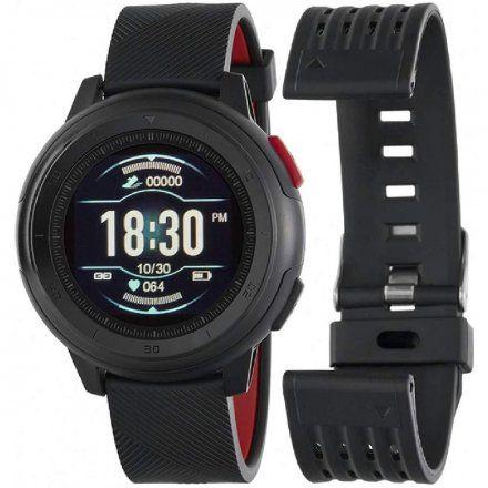 Czarno-czerwony Smartwatch Marea B58002/1 z dodatkowym paskiem