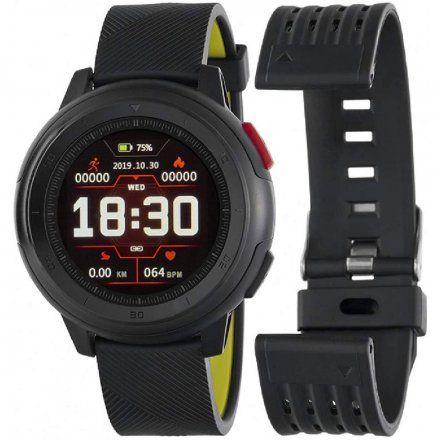 Czarno-zielony Smartwatch Marea B58002/3 z dodatkowym paskiem