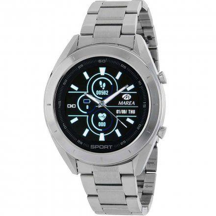 Srebrny Smartwatch Marea B58004/1 z dodatkowym paskiem
