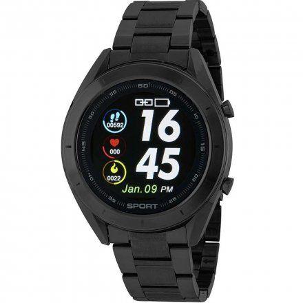 Czarny Smartwatch Marea B58004/2 z dodatkowym paskiem