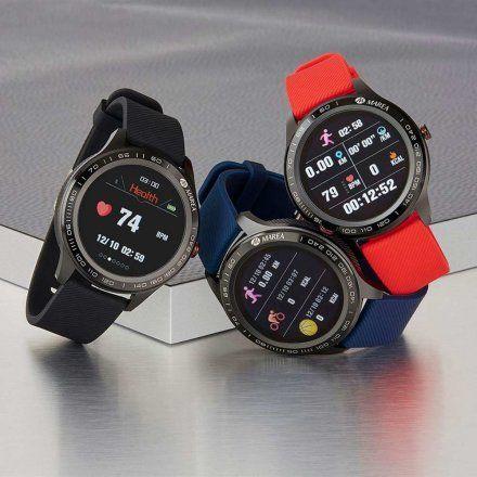 Czerwony Smartwatch męski Marea B60001/2