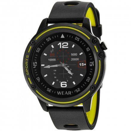 Czarno-żółty smartwatch sportowy Marea B57005/2