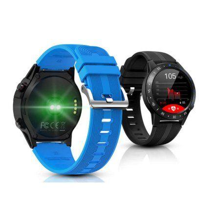 Czarny Smartwatch męski Pacific 02 GPS Rozmowy Puls Sport