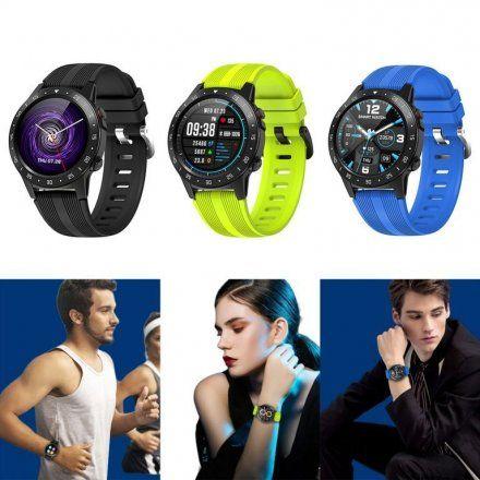 Brązowy Smartwatch męski Pacific 02 GPS Rozmowy Puls Sport