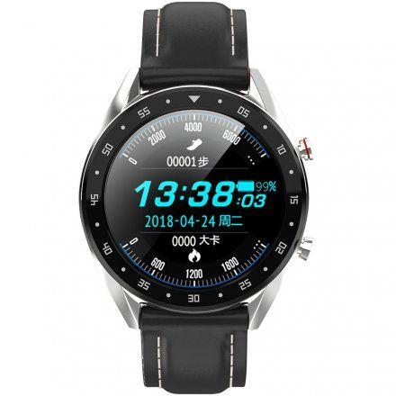 Smartwatch męski Pacific 05 Rozmowy - pasek silikon czarny-biały