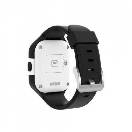 Czarny smartwatch dziecięcy z GPS Pacific 08