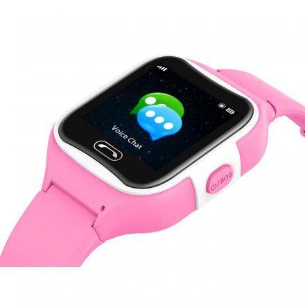 Różowy smartwatch dziecięcy z GPS Pacific 08