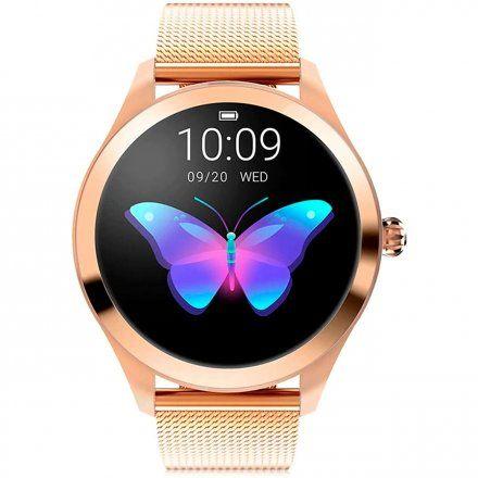 Różowozłoty smartwatch damski z bransoletką Pacific 06