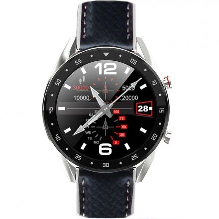 Smartwatch męski Pacific 05 Rozmowy - pasek karbon czarny