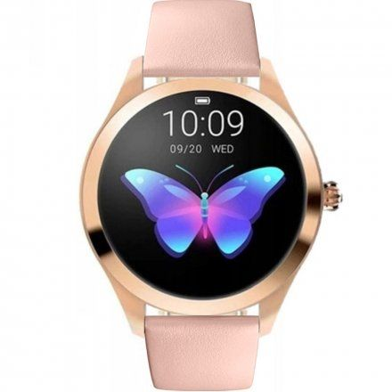 Różowozłoty smartwatch damski z różowym paskiem Pacific 06