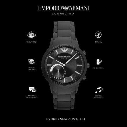 Emporio Armani Connected ART3033 Hybrydowy Zegarek Smartwatch EA Renato