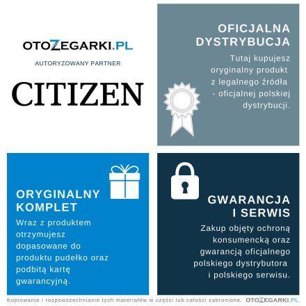 Citizen AW1620-81E Zegarek Męski na bransolecie Eco Drive