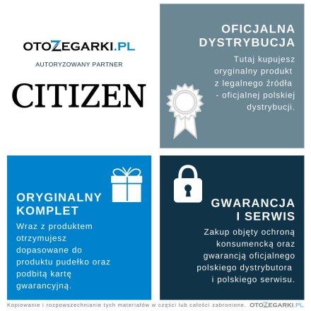 Citizen FE6150-18A Zegarek Damski na pasku Eco Drive Titanum