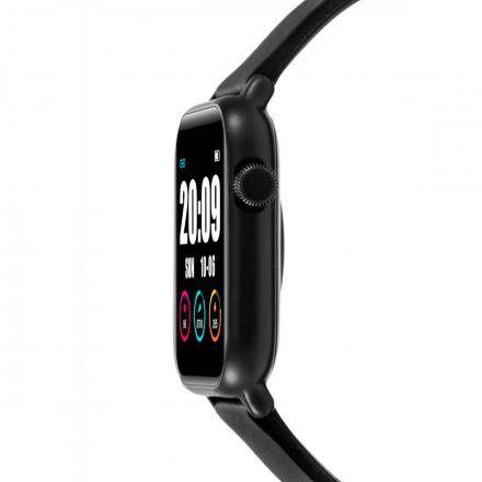 Czarny smartwatch męski damski Rubicon RNCE56BIBX01AX