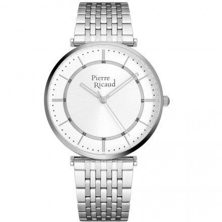 Pierre Ricaud P91038.5113Q Zegarek Srebrny Niemiecka Jakość