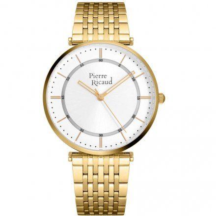 Pierre Ricaud P91038.1113Q Zegarek Złoty Niemiecka Jakość