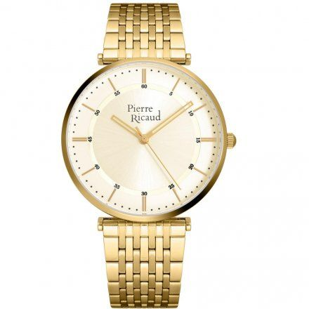 Pierre Ricaud P91038.1111Q Zegarek Złoty Niemiecka Jakość