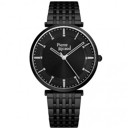 Pierre Ricaud P91038.B114Q Zegarek Czarny Niemiecka Jakość