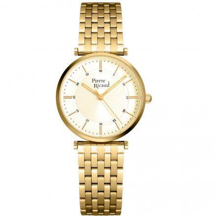 Pierre Ricaud P51038.1111Q Zegarek Damski Złoty Niemiecka Jakość