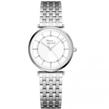 Pierre Ricaud P51038.5113Q Zegarek Damski Srebrny Niemiecka Jakość