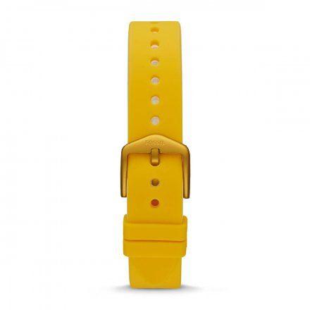 Żółty pasek Fossil 18 mm Sport FTW6053