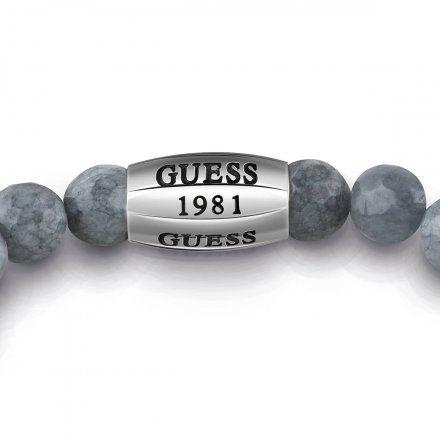 Biżuteria Guess męska bransoletka szare koraliki UMB28004