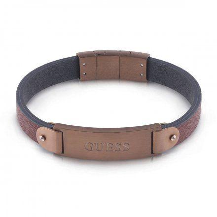Biżuteria Guess męska bransoletka brązowa UMB29007