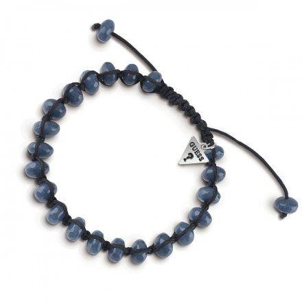 Biżuteria Guess męska bransoletka niebieskie koraliki UMB85021