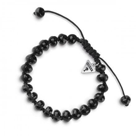 Biżuteria Guess męska bransoletka czarne koraliki UMB85024