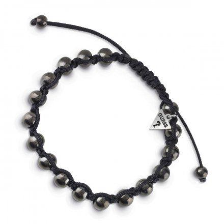 Biżuteria Guess męska bransoletka czarne koraliki UMB85025