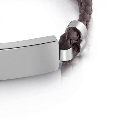 Biżuteria Guess męska bransoletka brązowa UMB78013