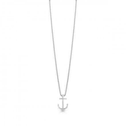 Biżuteria Guess męska wisiorek srebrny kotwica UMN78004