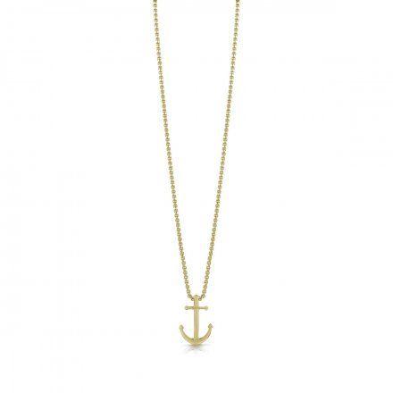 Biżuteria Guess męska wisiorek złoty kotwica UMN79000