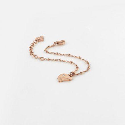 Biżuteria Guess damska bransoletka różowe złoto serce UBB79011-S