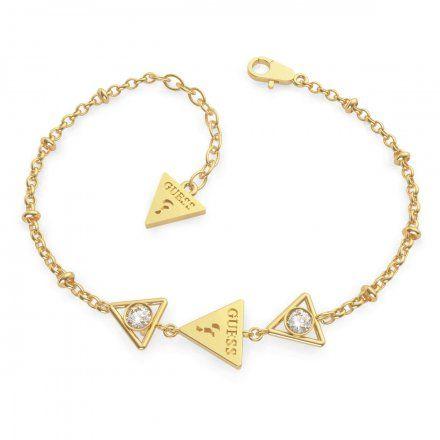 Biżuteria Guess damska bransoletka złota trójkąty UBB79016-S