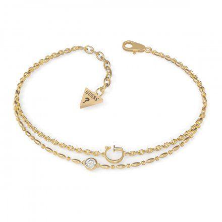 Biżuteria Guess damska bransoletka złota literka G UBB79030-S