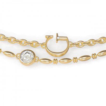 Biżuteria Guess damska bransoletka złota literka G UBB79030-L