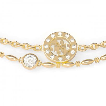 Biżuteria Guess damska bransoletka złota logo UBB79033-S