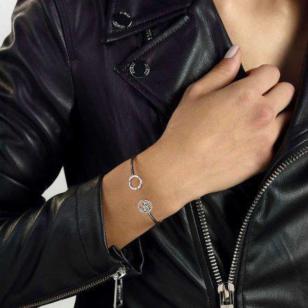 Biżuteria Guess damska bransoletka srebrna bangle UBB79080-S