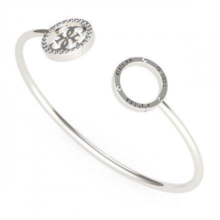 Biżuteria Guess damska bransoletka srebrna bangle UBB79080-L