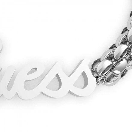 Biżuteria Guess damska bransoletka srebrna logo UBB79106-S
