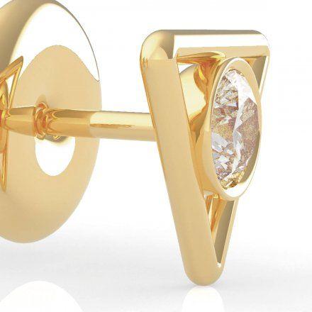 Biżuteria Guess kolczyki złote trójkąty Swarovski UBE79013
