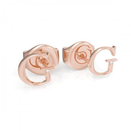 Biżuteria Guess kolczyki różowozłote litera G UBE79032