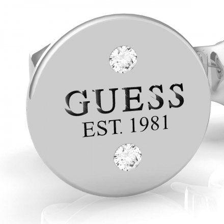 Biżuteria Guess kolczyki srebrne okrągłe UBE79048