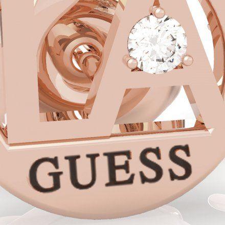 Biżuteria Guess kolczyki różowozłote okrągłe UBE79053